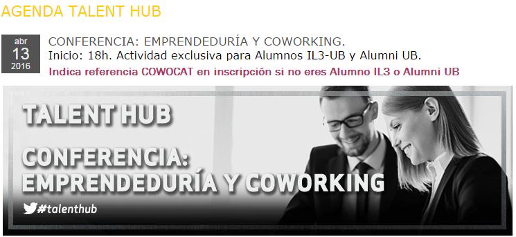 13/4/2016: Cowocat en el IL3 de la Universidad de Barcelona